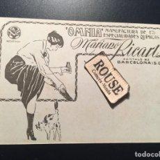 Postales: ANTIGUA POSTAL PUBLICITARIA ''OMNIA'' MANUFACTURA DE ESPECIALIDADES QUIMICAS MARIANO RICART. Lote 210592218