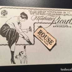 Postales: ANTIGUA POSTAL PUBLICITARIA ''OMNIA'' MANUFACTURA DE ESPECIALIDADES QUIMICAS MARIANO RICART. Lote 210592318
