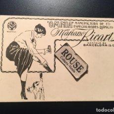 Postales: ANTIGUA POSTAL PUBLICITARIA ''OMNIA'' MANUFACTURA DE ESPECIALIDADES QUIMICAS MARIANO RICART. Lote 210592386