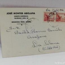 Postales: TARJETA POSTAL PUBLICITARIA. JOSE MONTES ABOLAFIA. MANCHA REAL, JAEN.. Lote 210741156
