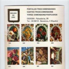 Postales: MUESTRA PARA POSTALES 3D -ESCUDO DE ORO-. Lote 210818576