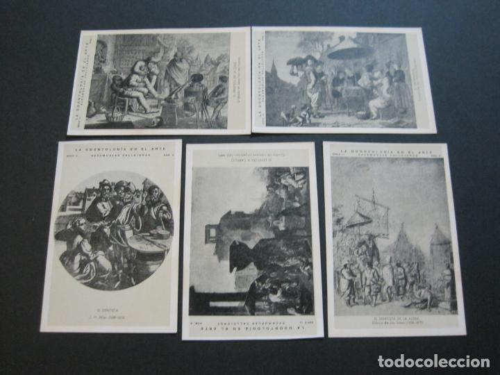 Postales: LA ODONTOLOGIA EN EL ARTE-COLECCION COMPLETA DE 50 POSTALES-PUBLICIDAD DONNER-VER FOTOS-(72.724) - Foto 4 - 210970255