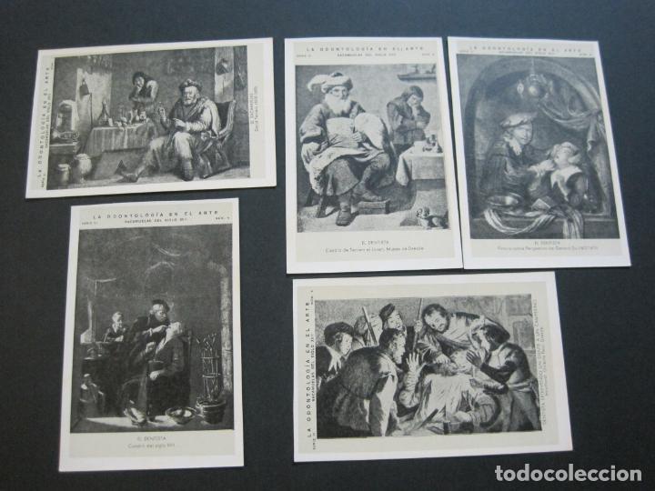 Postales: LA ODONTOLOGIA EN EL ARTE-COLECCION COMPLETA DE 50 POSTALES-PUBLICIDAD DONNER-VER FOTOS-(72.724) - Foto 7 - 210970255