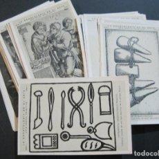 Postales: LA ODONTOLOGIA EN EL ARTE-COLECCION COMPLETA DE 50 POSTALES-PUBLICIDAD DONNER-VER FOTOS-(72.724). Lote 210970255