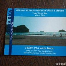 Postales: POSTAL DE PUBLICIDAD, DIVISAMAR, COSTA RICA, PLAYAS.. Lote 210975202