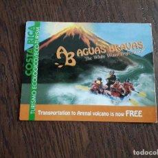 Postales: POSTAL DE PUBLICIDAD, AGUAS BRAVAS, COSTA RICA, TURISMO ECOLÓGICO.. Lote 210975357