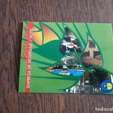 Postales: POSTAL DE PUBLICIDAD, HOTEL RIO PERLAS, COSTA RICA.. Lote 210975521