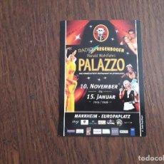 Postales: POSTAL DE PUBLICIDAD, PALAZZO VARIETE, ALEMANIA.. Lote 210975827