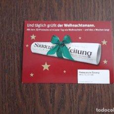 Postales: POSTAL DE PUBLICIDAD, SÜDDEUTSCHE ZEITUNG. EDGAR MEDIEN AG. Lote 210975882
