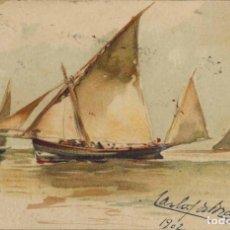 Cartes Postales: TARJETA POSTAL LITOGRÁFICA. FESTIVAL DE LA CARIDAD DE CÁDIZ. SEVILLA 1902. Lote 210987002