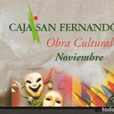 Postales: POSTALES: PROGRAMACIÓN NOVIEMBRE 1998. CAJA SAN FERNÁNDO. (P/C53). Lote 211424241