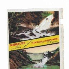 Postales: FORMOALDEN: HOJA PUBLICITARIA MEDICAMENTO (1957). Lote 211822770