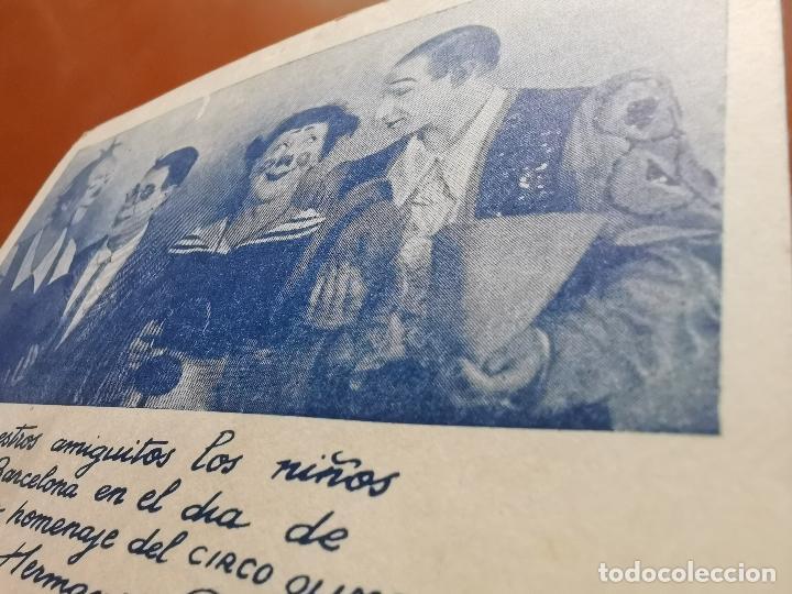 Postales: HERMANOS CAPE-CIRCO OLIMPIA -SUPER CLOWNS MUSICALES-AÑO 1945-FELICITACION-POSTAL 15,5 X 11-PAYASOS - Foto 2 - 212296462