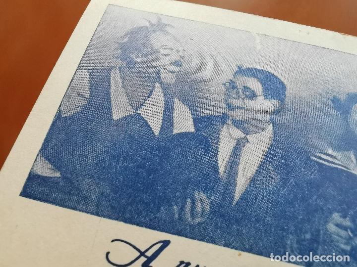 Postales: HERMANOS CAPE-CIRCO OLIMPIA -SUPER CLOWNS MUSICALES-AÑO 1945-FELICITACION-POSTAL 15,5 X 11-PAYASOS - Foto 3 - 212296462