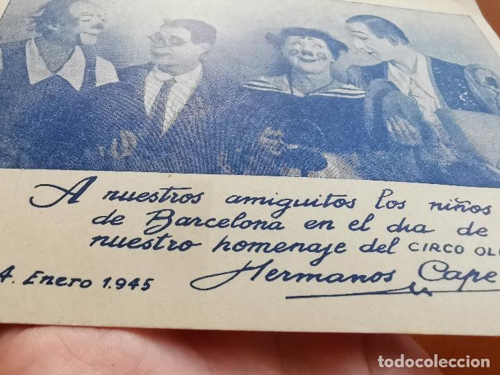 Postales: HERMANOS CAPE-CIRCO OLIMPIA -SUPER CLOWNS MUSICALES-AÑO 1945-FELICITACION-POSTAL 15,5 X 11-PAYASOS - Foto 5 - 212296462
