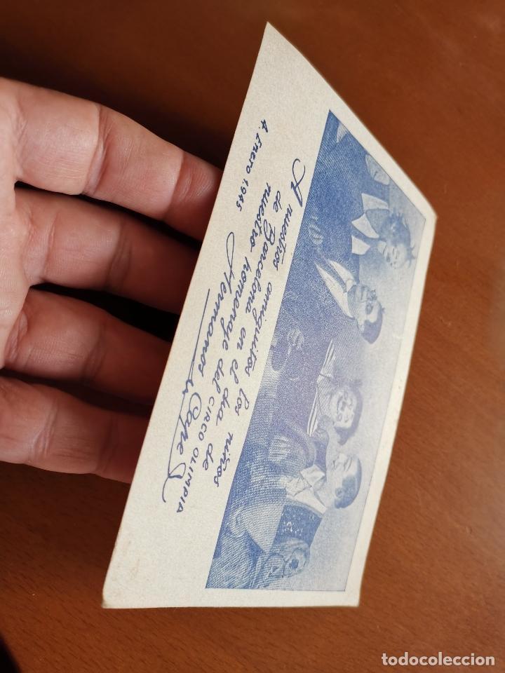 Postales: HERMANOS CAPE-CIRCO OLIMPIA -SUPER CLOWNS MUSICALES-AÑO 1945-FELICITACION-POSTAL 15,5 X 11-PAYASOS - Foto 6 - 212296462
