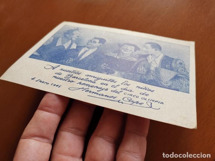 Postales: HERMANOS CAPE-CIRCO OLIMPIA -SUPER CLOWNS MUSICALES-AÑO 1945-FELICITACION-POSTAL 15,5 X 11-PAYASOS - Foto 7 - 212296462