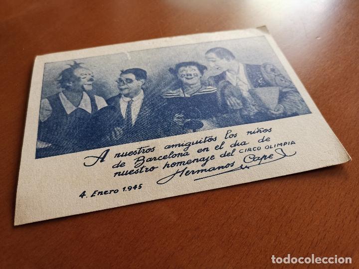 Postales: HERMANOS CAPE-CIRCO OLIMPIA -SUPER CLOWNS MUSICALES-AÑO 1945-FELICITACION-POSTAL 15,5 X 11-PAYASOS - Foto 11 - 212296462