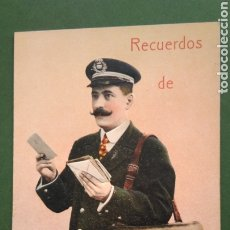 Postales: POSTAL CARTERO VISELADO , RECUERDO DE FIGUERAS, UNIVERSELLE. Lote 213250905