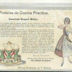 Postales: C3.- COCINA - POSTALES DE COCINA PRACTICA - IGNASI DOMENECH -REVISTA EL GORRO BLANCO. Lote 213566116