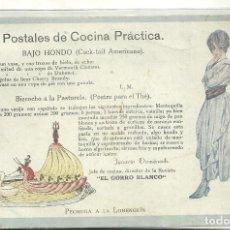 Postales: C3.- COCINA - POSTALES DE COCINA PRACTICA - IGNASI DOMENECH -REVISTA EL GORRO BLANCO. Lote 213566147