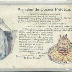Postales: C3.- COCINA - POSTALES DE COCINA PRACTICA - IGNASI DOMENECH -REVISTA EL GORRO BLANCO. Lote 213566157