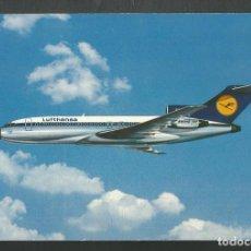 Postales: POSTAL SIN CIRCULAR PUBLICITARIA LUFTHANSA AVION BOEING 727 EUROPA JET. Lote 213585763
