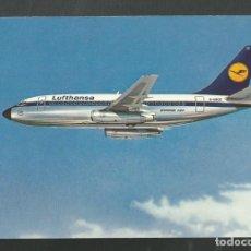 Postales: POSTAL SIN CIRCULAR PUBLICITARIA LUFTHANSA AVION BOEING 727 EUROPA JET. Lote 213585816