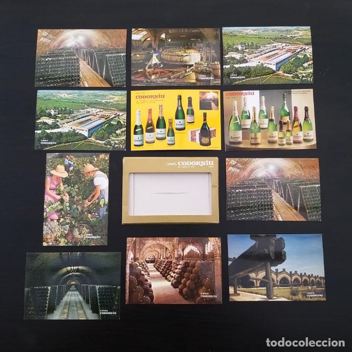9 POSTALES PUBLICIDAD CODORNIU (+ 2 REPETIDAS) + CARPETA AÑOS 60-70 P309 (Postales - Postales Temáticas - Publicitarias)