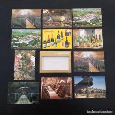 Postales: 9 POSTALES PUBLICIDAD CODORNIU (+ 2 REPETIDAS) + CARPETA AÑOS 60-70 P309. Lote 214218355
