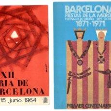 Postales: 2 POSTALES - PRIMER CENTENARIO FIESTAS MERCED 1871-1971 + XXXII FERIA DE BARCELONA 1964.. Lote 215397152