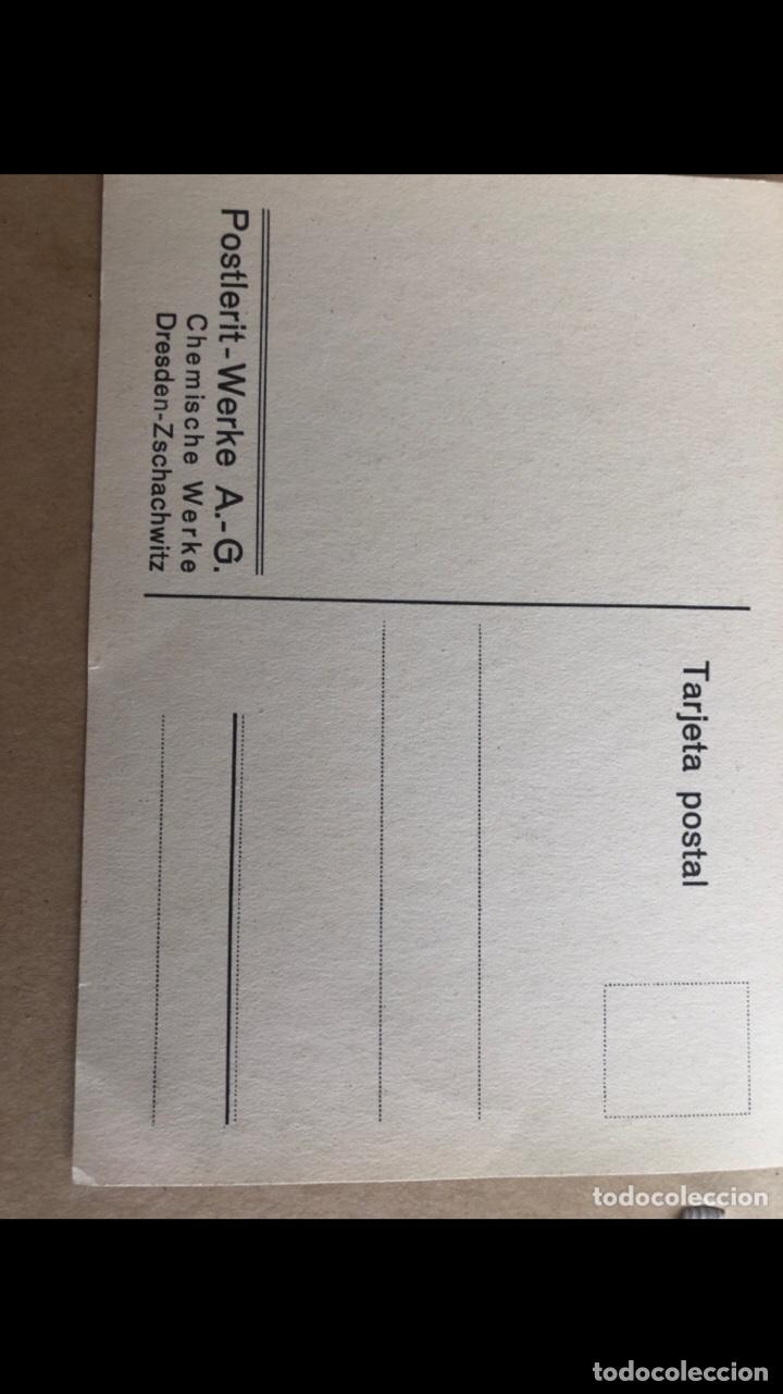 Postales: Postal anuncio empresa alemana Mediados S. XX - Foto 2 - 215480873