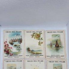 Postales: 7 CROMOS DE PUBLICIDAD ANTIGUA DE SALES DEL PILAR. Lote 216577146