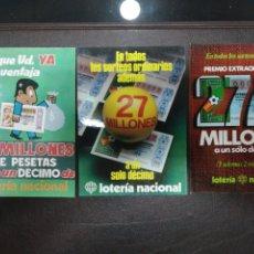 Postales: TARJETA ANUNCIADOR DE LOS SORTEOS DE 1982 CON PREMIO ESPECIAL AL DECIMO. Lote 217431286