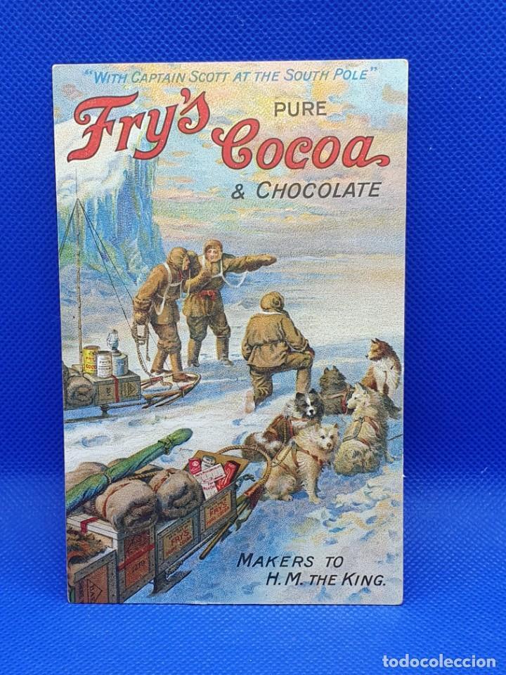POSTAL CAPITAN SCOTT FRY´S COCOA & CHOCOLATE (Postales - Postales Temáticas - Publicitarias)