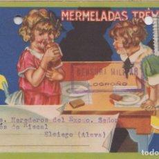 Postales: TARJETA PUBLICITARIA CON CENSURA DE LOGROÑO. Lote 219121457