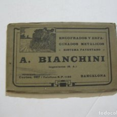 Postales: BIANCHINI INGENIEROS-BLOC DE 10 POSTALES DE LANGREO,ZARAGOZA,BARCELONA..ETC-VER FOTOS-(74.286). Lote 220092293