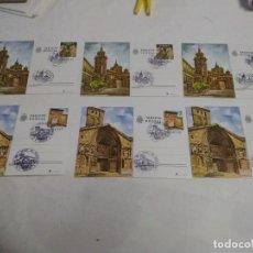 Postales: LOTE 6 POSTALES PRIMER DIA DE CIRCULACIÓN, TERUEL Y LOGROÑO AÑO 1980. Lote 220519510