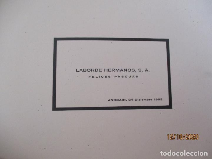 Postales: Felicitacion navideña de Laborde Hermanos. Andoain 1953. Ver fotos adicionales. (Navidad) - Foto 4 - 220885617
