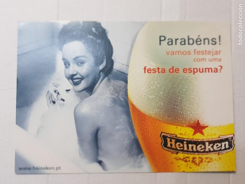 POSTAL ANTIGUA PUBLICIDAD CERVEZA HEINEKEN (Postales - Postales Temáticas - Publicitarias)