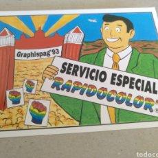 Postales: GRAPHISPAG-93 SERVICIO ESPECIAL RÁPIDO OLOR. VALLS TARRAGONA. Lote 221731678