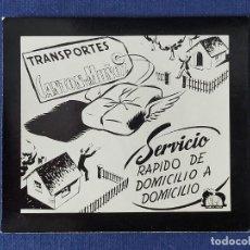 Postales: POSTALITA PUBLICITARIA CINE / FOTO FIJA: TRANSPORTE CANTON Y MUÑIZ - PUBLICIDAD ELIS. Lote 221805321