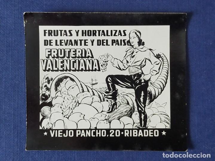 POSTALITA PUBLICITARIA CINE / FOTO FIJA: FRUTAS Y HORTALIZAS, FRUTERIA VALENCIANA (RIBADEO, LUGO) (Postales - Postales Temáticas - Publicitarias)