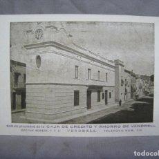 Postales: VENDRELL. CAJA DE CREDITO Y AHORRO. POSTAL ORIGINAL. Lote 221902851
