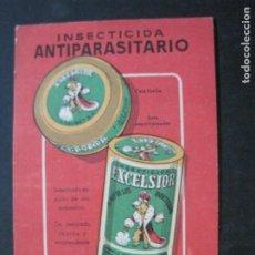 Postales: INSECTICIDA ANTIPARASITARIO EXCELSIOR-POSTAL PUBLICIDAD ANTIGUA-(75.072). Lote 222075615