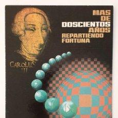 Postales: POSTAL LOTERIA NACIONAL. CARLOS III. E. DE LARA.. Lote 222341177