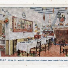 Postales: LA BARRACA. COMEDOR TÍPICO ESPAÑOL. MADRID. FRANQUEADA EL 23 DE MARZO DE 1952.. Lote 222375722