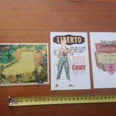 Postales: POSTALES LIBERTO Y SNIPE AÑOS 90. Lote 222538225