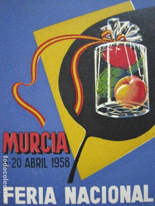 Postales: MURCIA-FERIA NACIONAL DE LA CONSERVA VEGETAL-AÑO 1958-POSTAL PUBLICIDAD ANTIGUA-VER FOTOS-(75.286) - Foto 2 - 222703196