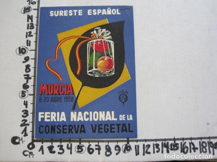 Postales: MURCIA-FERIA NACIONAL DE LA CONSERVA VEGETAL-AÑO 1958-POSTAL PUBLICIDAD ANTIGUA-VER FOTOS-(75.286) - Foto 4 - 222703196